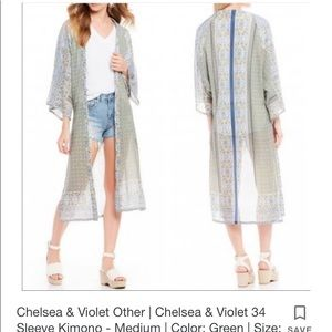 Chelsea and Violet Floral Kimono Duster